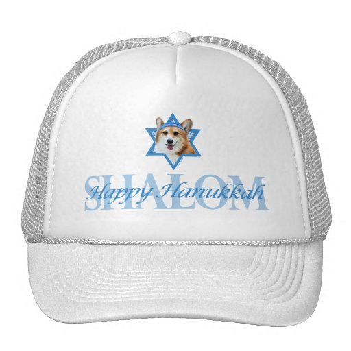 Hanukkah Star of David - Corgi - Owen Mesh Hat
