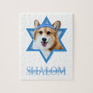 Hanukkah Star of David - Corgi - Owen Jigsaw Puzzle