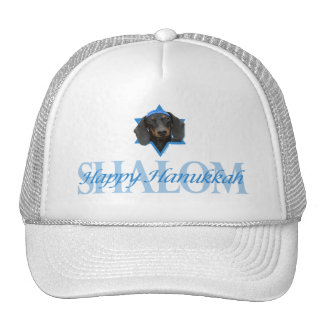 Hanukkah Star of David - Dachshund - Winston Trucker Hat