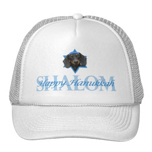 Hanukkah Star of David - Dachshund - Winston Hat