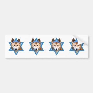 Hanukkah Star of David - Dingo Bumper Sticker