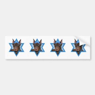 Hanukkah Star of David - Doberman - Rocky Bumper Sticker