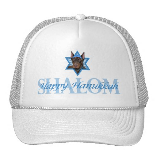 Hanukkah Star of David - Doberman - Rocky Mesh Hat