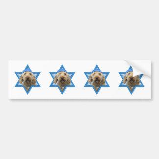 Hanukkah Star of David - GoldenDoodle Bumper Stickers