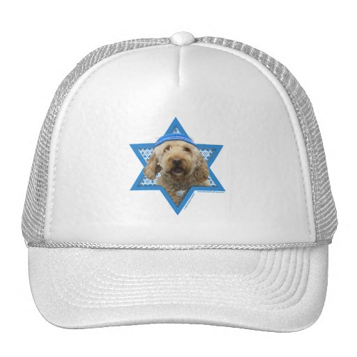 Hanukkah Star of David - GoldenDoodle Mesh Hats