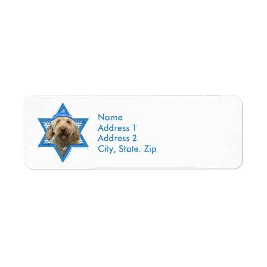 Hanukkah Star of David - GoldenDoodle Return Address Label