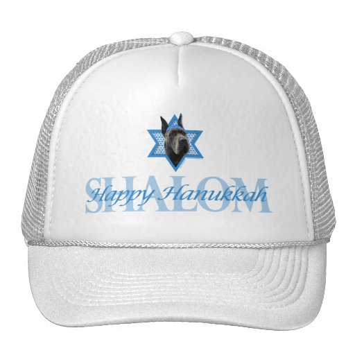 Hanukkah Star of David - Great Dane - Grey Hat