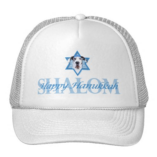 Hanukkah Star of David - Great Dane - Harlequin Hats