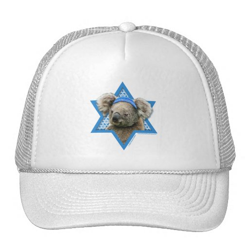 Hanukkah Star of David - Koala Bear Mesh Hat