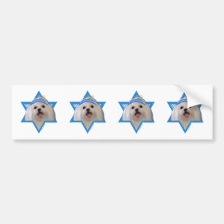 Hanukkah Star of David - Maltese Bumper Sticker
