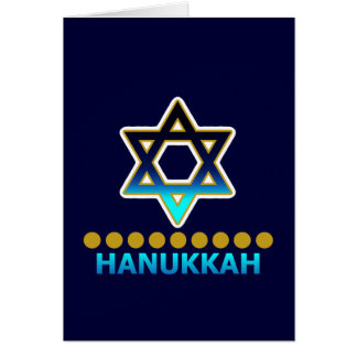 Hanukkah Star Of David Menorah Card