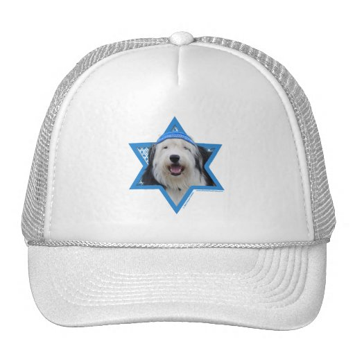 Hanukkah Star of David - Old English Sheepdog Hat