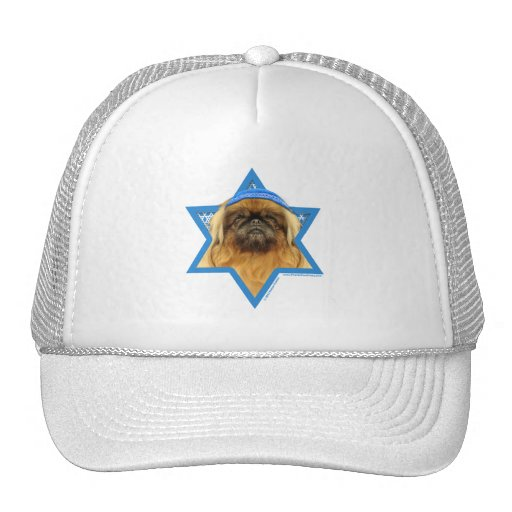 Hanukkah Star of David - Pekingese - Pebbles Hats