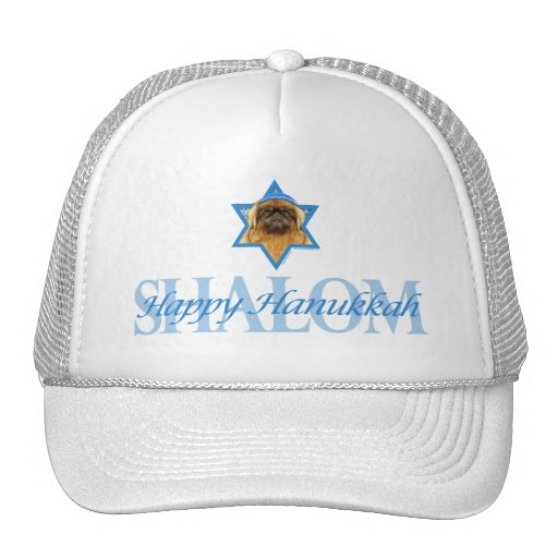 Hanukkah Star of David - Pekingese - Pebbles Trucker Hats