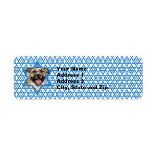 Hanukkah Star of David - Pitbull - Tigger Return Address Label