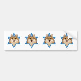 Hanukkah Star of David - Pomeranian Bumper Sticker