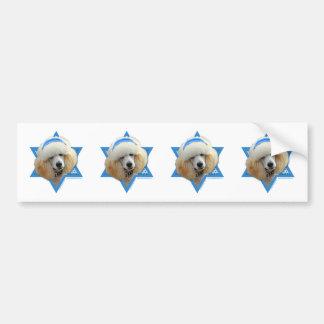 Hanukkah Star of David - Poodle - Apricot Bumper Sticker