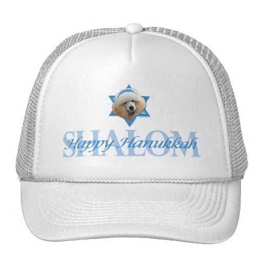 Hanukkah Star of David - Poodle - Apricot Mesh Hat