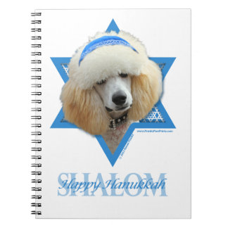 Hanukkah Star of David - Poodle - Apricot Spiral Note Book