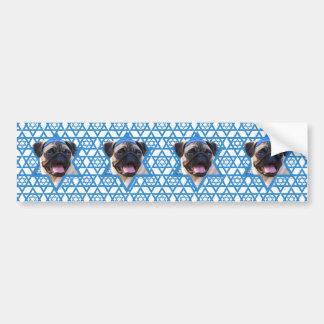 Hanukkah Star of David - Pug Bumper Stickers