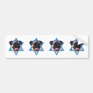 Hanukkah Star of David - Pug Bumper Sticker