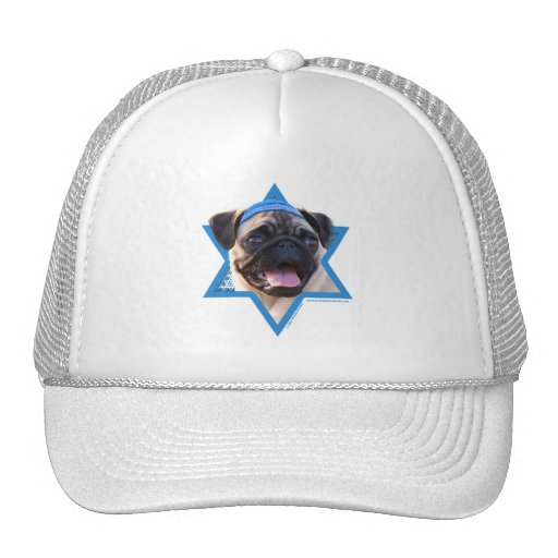 Hanukkah Star of David - Pug Mesh Hat