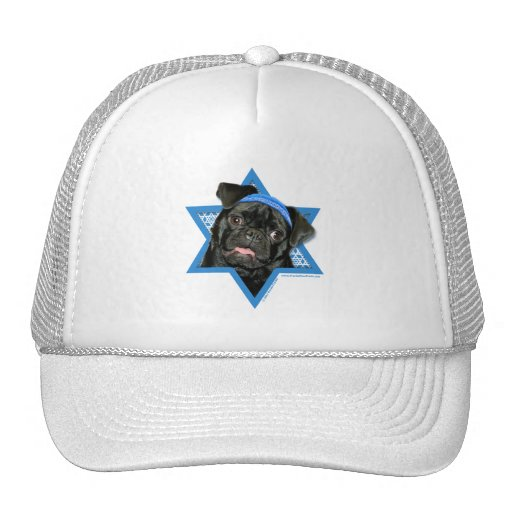 Hanukkah Star of David - Pug - Ruffy Hat