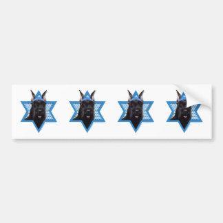 Hanukkah Star of David - Schnauzer Bumper Stickers