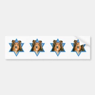 Hanukkah Star of David - Sheltie Bumper Sticker