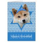 Hanukkah Star of David - Shiba Inu Card