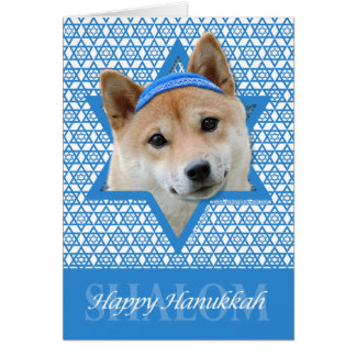 Hanukkah Star of David - Shiba Inu Card
