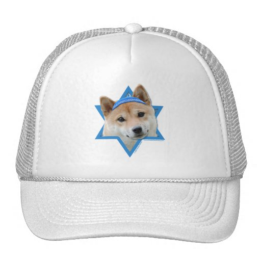Hanukkah Star of David - Shiba Inu Hat