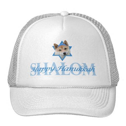 Hanukkah Star of David - Shiba Inu Mesh Hat