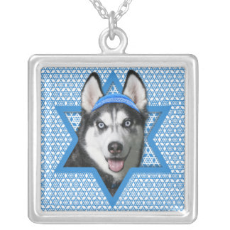 Hanukkah Star of David - Siberian Husky Pendant