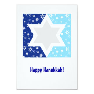 Hanukkah Star of David Snowflake Card