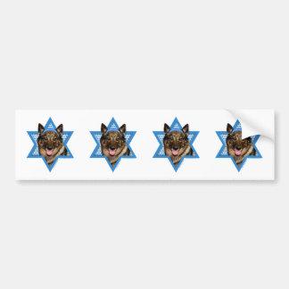 Hanukkah Star of David - Vallhund - Bear Bumper Sticker