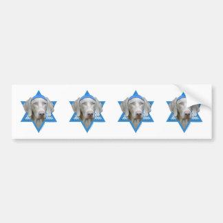 Hanukkah Star of David - Weimaraner Bumper Sticker