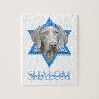 Hanukkah Star of David - Weimaraner Jigsaw Puzzle
