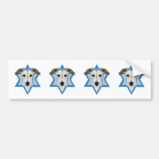 Hanukkah Star of David - Whippet Bumper Sticker