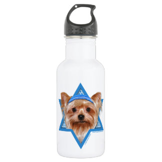 Hanukkah Star of David - Yorkshire Terrier 532 Ml Water Bottle