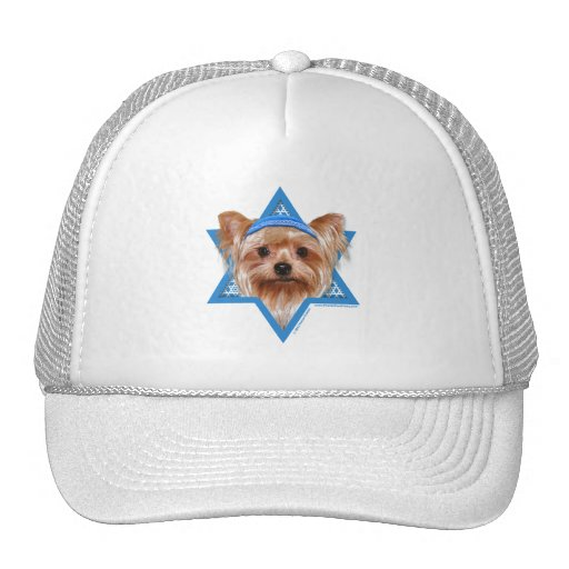 Hanukkah Star of David - Yorkshire Terrier Mesh Hats