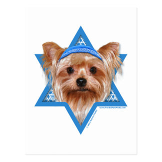 Hanukkah Star of David - Yorkshire Terrier Postcard