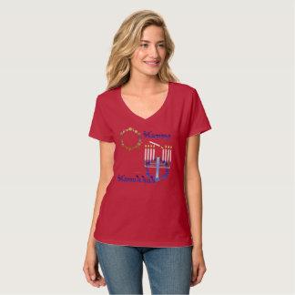 Hanukkah Stars Nano V-Neck T-shirt