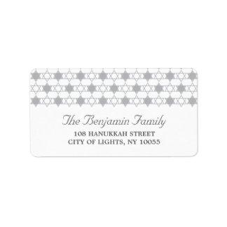 Hanukkah Stars Of David Holiday Address Labels