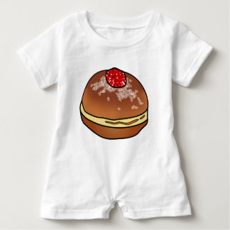 Hanukkah Sufganiyah Jelly Donut Baby Item Baby Romper