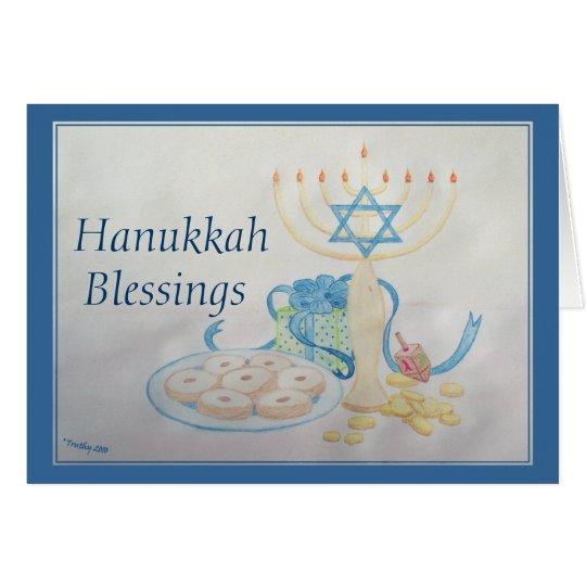 HANUKKAH TABLE CARD