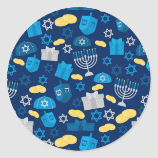 Hanukkah Themed Classic Round Sticker