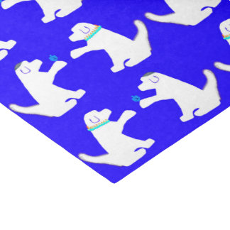 Hanukkah tissue paper with cute dogs