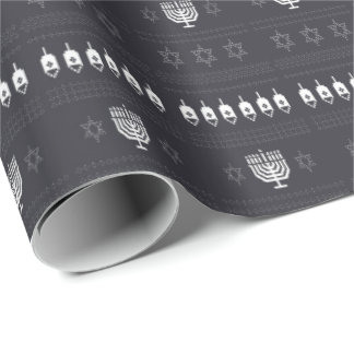Hanukkah Ugly Sweater Wrapping Paper