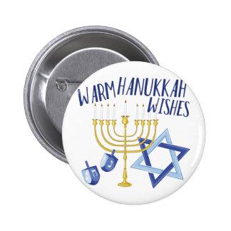 Hanukkah Wishes 2 Inch Round Button